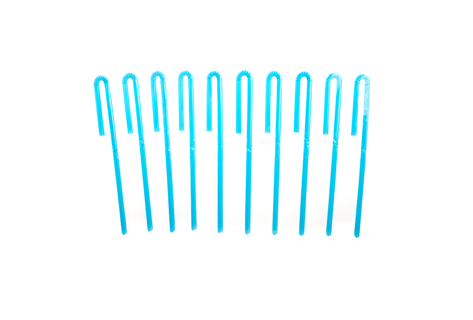 Blue Industrial Straw
