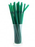 Flexible Straw Green