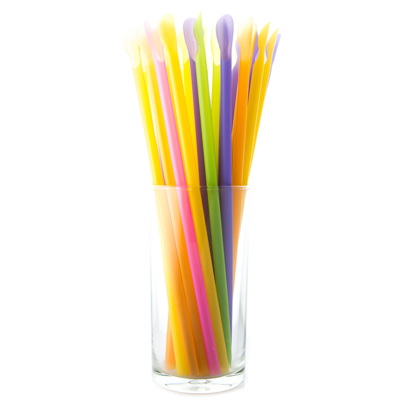 Mix Color Spoon straw (Ø6 x 210)
